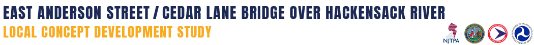 East Anderson Street Bridge over Hackensack River Local Concept Development Study Logo